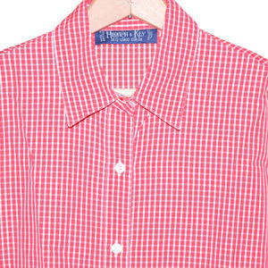 Hilditch & Key 10 Red White Checks LS Womens Shirt